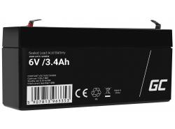 AGM GEL Batterie 6V 3.4Ah Blei Akku Green Cell Wartungsfreie für Roller und eine Parkuhr