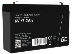 AGM GEL Batterie 6V 7.2Ah Blei Akku Green Cell Wartungsfreie für Rasenmäher und Traktor