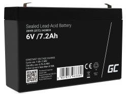 Green Cell Batterie AGM 6V 7.2Ah