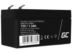 Green Cell Batterie AGM VRLA 12V 1.3Ah