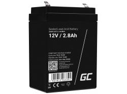 AGM GEL Batterie 12V 2.8Ah Blei Akku Green Cell Wartungsfreie für Schwerkraft und Alarm