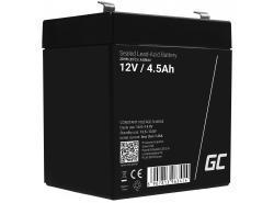 AGM GEL Batterie 12V 4.5Ah Blei Akku Green Cell Wartungsfreie für Spielzeug und Taschenlampe