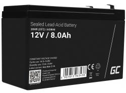 AGM GEL Batterie 12V 8Ah Blei Akku Green Cell Wartungsfreie für UPS und Notfallsysteme