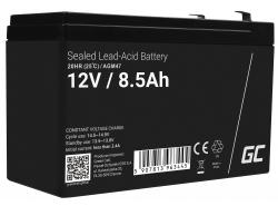 AGM GEL Batterie 12V 8.5Ah Blei Akku Green Cell Wartungsfreie für UPS und Überwachung