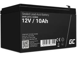 AGM GEL Batterie 12V 10Ah Blei Akku Green Cell Wartungsfreie für Photovoltaik und Echolot