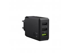 Nabíječka GC ChargeSource 3 3xUSB 30W s technologií rychlého nabíjení Ultra Charge a Smart Charge