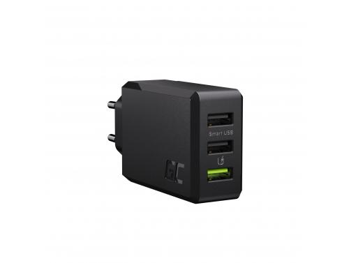 Netzladegerät GC ChargeSource 3 3xUSB 30W mit Schnellladetechnik Ultra Charge und Smart Charge