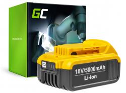 Green Cell® Batterie Akku (5Ah 18V) DCB182 DCB184 DCB185 DCB200 XR für DeWalt DCD740 DCD771C2 DCD780 DCD980 DCF885 DCS331 DCS381