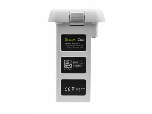 Drone Battery Green Cell pro DJI PHANTOM 2, DJI PHANTOM VISION 2 5,2Ah 11,1V