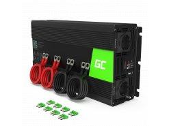Měnič Green Cell ® 1000W / 2000W Pure Sine Voltage Converter 24V 230V