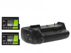 Grip Green Cell MB-D12H + 2x Baterie EN-EL15 1900mAh 7.4V pro fotoaparát Nikon D800 D800E D810 D810A