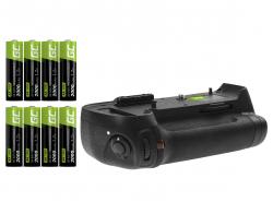 Grip Green Cell MB-D12H + Baterie 8x AA HR6 2600 mAh pro fotoaparát Nikon D800 D800E D810 D810A