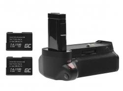 Akkugriff Green Cell BG-2F für + 2x Akku EN-EL14 EN-EL14A 1100mAh 7.4V die Nikon D3100 D3200 Kamera