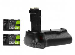 Grip Green Cell BG-E14H + 2x Baterie LP-E6 LP-E6N 1900mAh 7.4V  pro fotoaparát Canon EOS 70D 80D