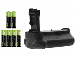 Akkugriff Green Cell BG-E16H+ 6x AA Batterie 2600mAh 1.2V für Canon EOS 7D Mark II