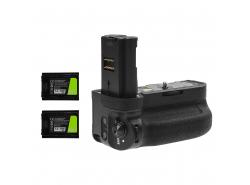 Grip Green Cell VG-C3EM + 2x Akku NP-FZ100 1600mAh 7.2V für Sony α9 A9 α7 III A7 III α7R III A7R III Kamera
