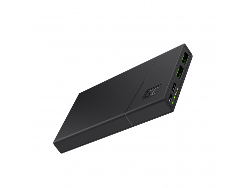 Powerbank Green Cell GC PowerPlay10 10000mAh mit Schnellladung 2x USB Ultra Charge und USB-C Power Delivery 18W