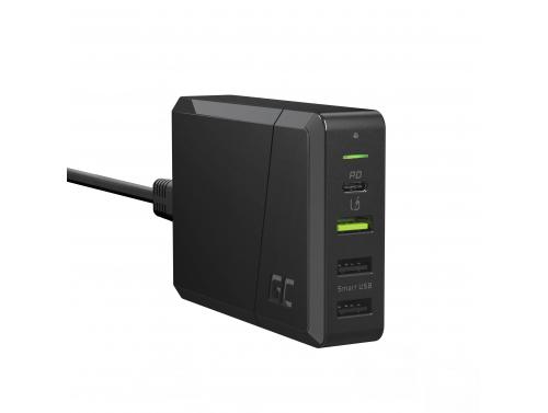 Green Cell Power Source 75W 4-Port Ladegerät mit USB-C PD zum Laden von Ultrabooks und Ultra Charge Technologie