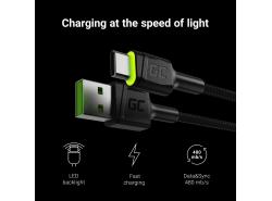 USB kabel Green
