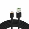 USB kabel Green Cell GC Ray - Micro USB 200 cm, oranžová LED, rychlé nabíjení Ultra Charge, QC3.0