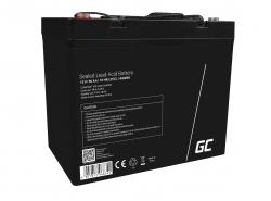 Green Cell® AGM 12V 50Ah Akku VRLA Blei-Batterie Unbemann Fischkutter Boot Scooter Rasentraktor Rasenmäher