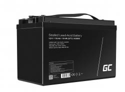 Green Cell® AGM 12V 110Ah Akku VRLA Blei-Batterie Unbemann Fischkutter Boot Scooter Rasentraktor Rasenmäher