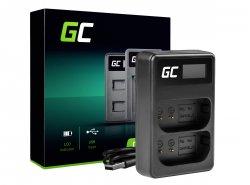 Dual-Ladegerät DMW-BTC14 Green Cell ® für DMW-BLJ31 Panasonic Lumix S1, S1H, S1K, S1R, S1RM 4,2 V 2,5 W 0,6 A.