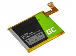 Baterie Green Cell ® 1-756-769-11 pro přenosný čtecí systém Sony PRS-500 oraz PRS-505 Ebook Reader