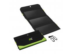 Solární nabíječka Green Cell GC SolarCharge 21W - Solární panel s funkcí powerbanky 10000 mAh USB-C Power Delivery 18W USB-A QC