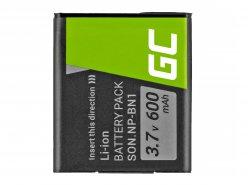 Green Cell ® Akku NP-BN1 für Sony Cyber-Shot DSC-QX10 DSC-QX100 DSC-TF1 DSC-TX10 DSC-W530 DSC-W650 DSC-W800 3.7V 630mAh