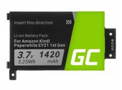 Green Cell Akku Batterie 58-000008 für Amazon Kindle Paperwhite I 1st 3G EY21 B024 B01B B01C B01D B01F B020, E-book 1420mAh