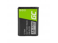 Green Cell ® Akku EN-EL23 für Nikon Coolpix B700, P600, P610, P900, S810C 3.7V 1700mAh