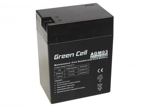 Green Cell® Akku Batterie AGM VRLA 6V 14Ah Sealed Lead-Acid wartungsfrei