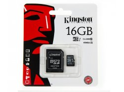 Kingston 16GB microSD-Speicherkarte + SD-Adapter