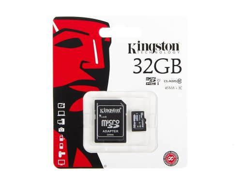 Kingston 32GB microSD-Speicherkarte 45MB/s + SD-Adapter