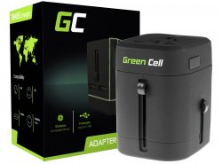 Universal Reiseadapter Green Cell ® für Steckdose USA / UK / AUS / China