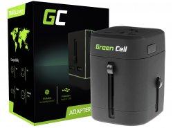 Univerzální cestovní adaptér Green Cell pro zásuvku USA / UK / AUS / Čína