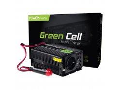 Napěťový převodník Green Cell ® 150W / 300W, měnič napětí 12V až 230V, USB