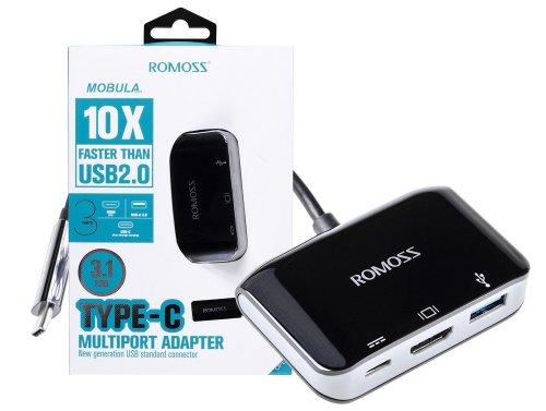 Adaptér HUB Romoss s USB-C pro HDMI 4K, USB-A 3.0, USB-C